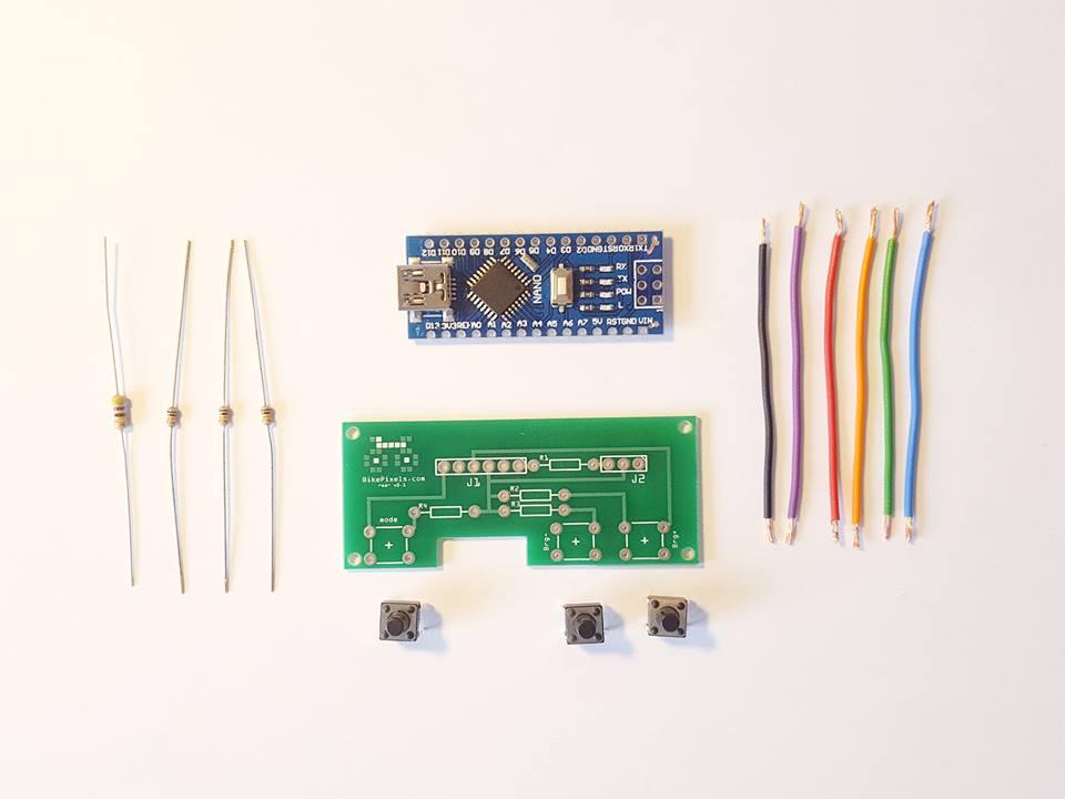 Imagen con los componentes básicos para el prototiopo