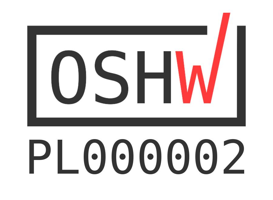 Sello de certificación de la OSHWA para Bike Pixel con código PL000002
