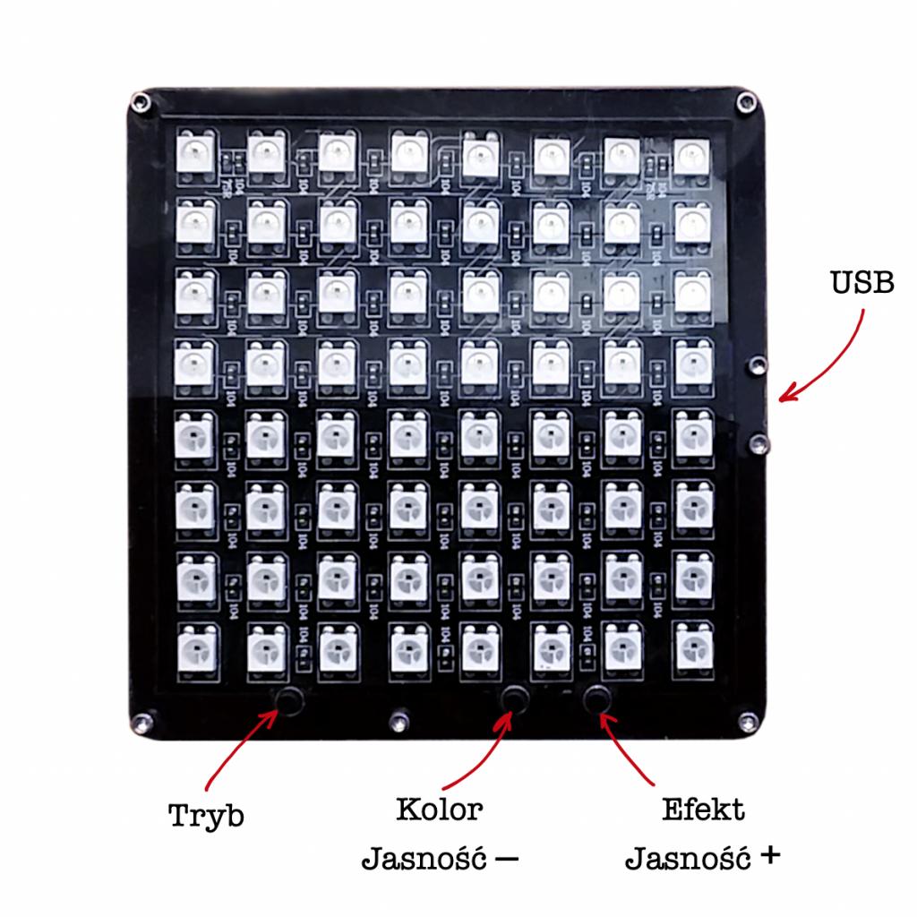 Główne części i funkcje w prototypie Bike Pixel Rear