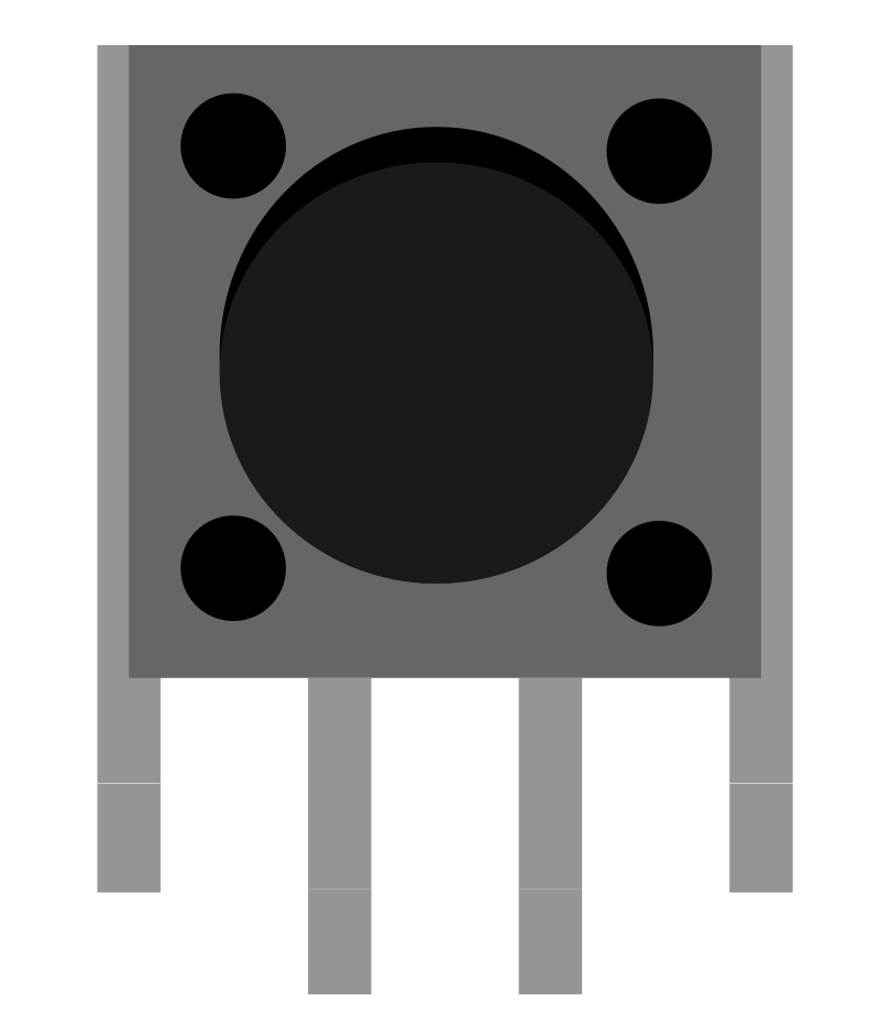 Breadboard view of the vertical push button created in Inkscape.
