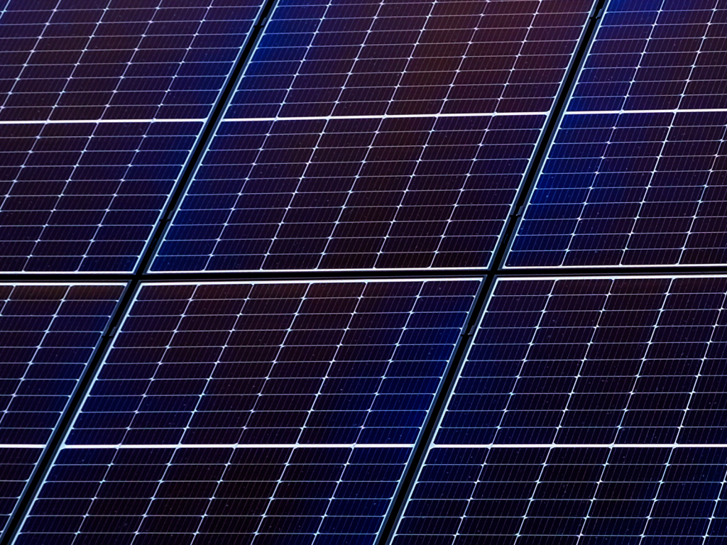 Picture of a photovoltaic solar panel.